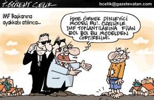 IMF Başkanına Ayakkabı Atıldı..