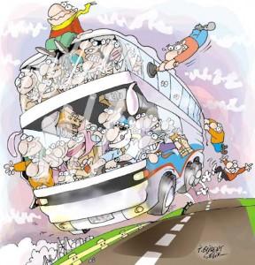 Bayramda bir otobüs